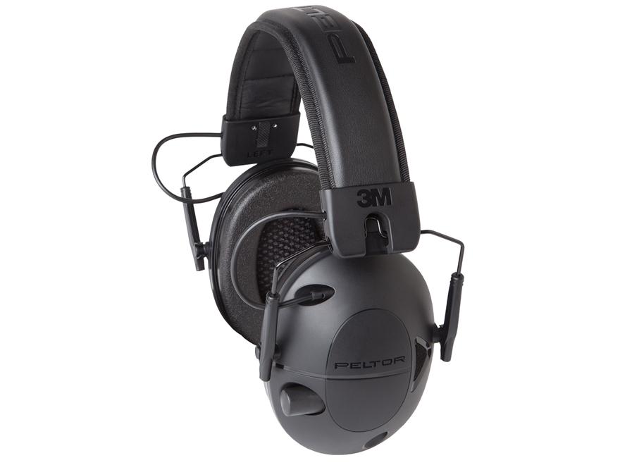 Peltor Sport Tactical 100 Electronic Earmuffs (NRR 22dB) Black