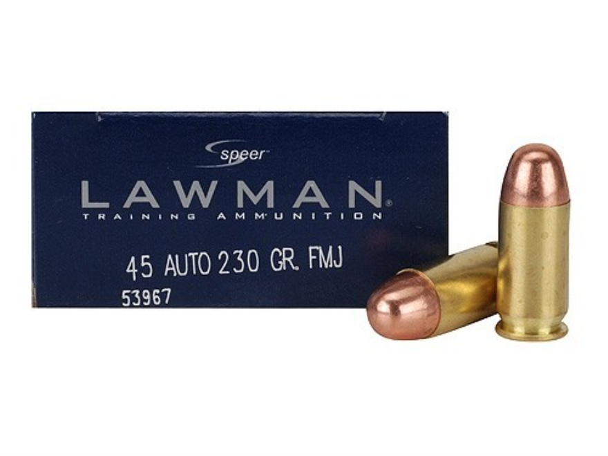 Speer Lawman Ammunition 45 ACP 230 Grain Full Metal Jacket Box of 50