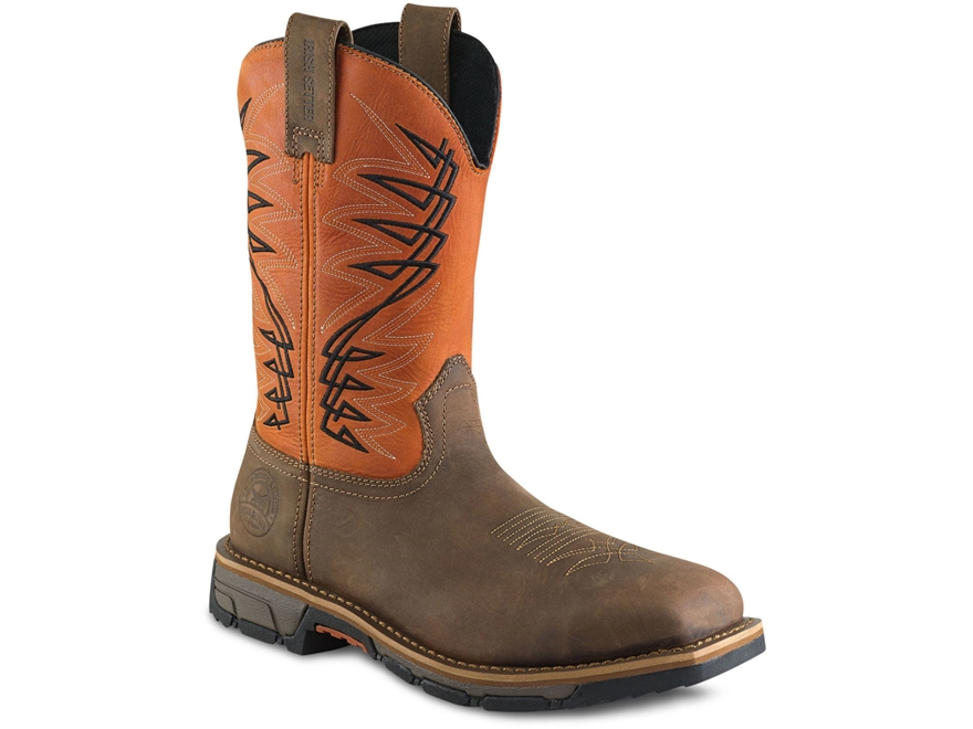 "Irish Setter Marshall 11"" Waterproof Uninsulated Square Steel Toe Work Boots Leather Men's"