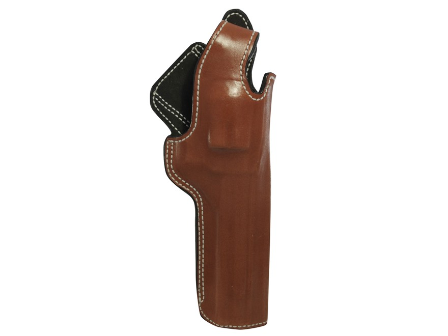 "DeSantis Dual Angle Hunter Belt Holster Right Hand S&W N Frame 6-1/2"" Leather Tan"