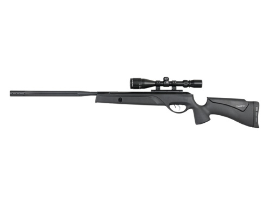 Gamo Bull Whisper Extreme Air Rifle Air Rifle 177 Caliber Pellet Black Synthetic Stock ...