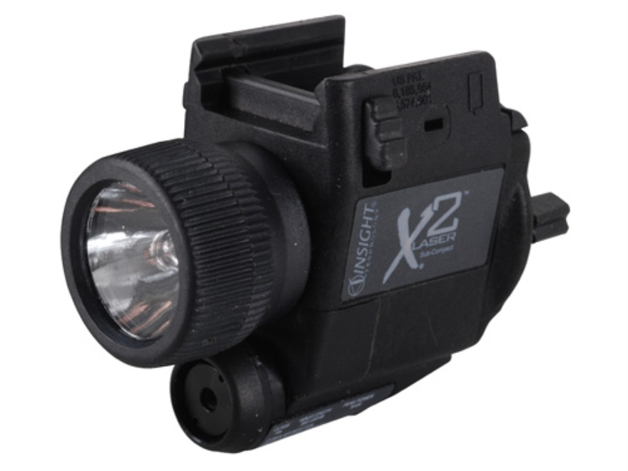 Insight Tech Gear X2L Sub-Compact Tactical Illuminator Flashlight with Laser Halogen Bu...