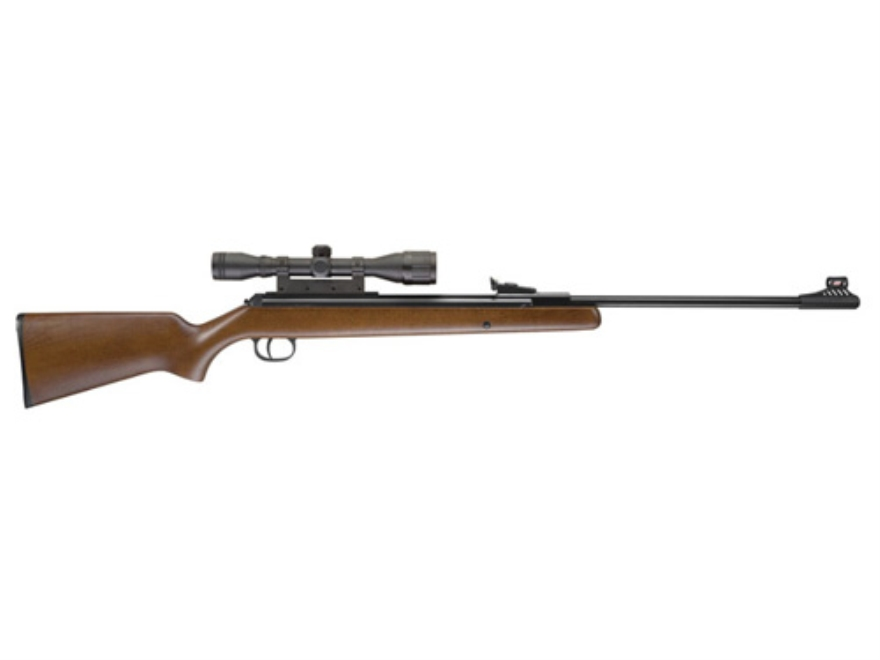 RWS 34 Air Rifle 22 Caliber Pellet Wood Stock Blue Barrel with Airgun Scope 4x32mm Matte