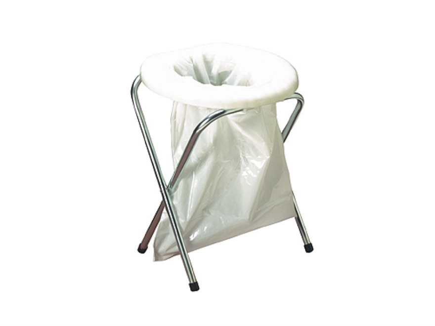 Texsport Portable Toilet Steel Frame Polymer Seat White