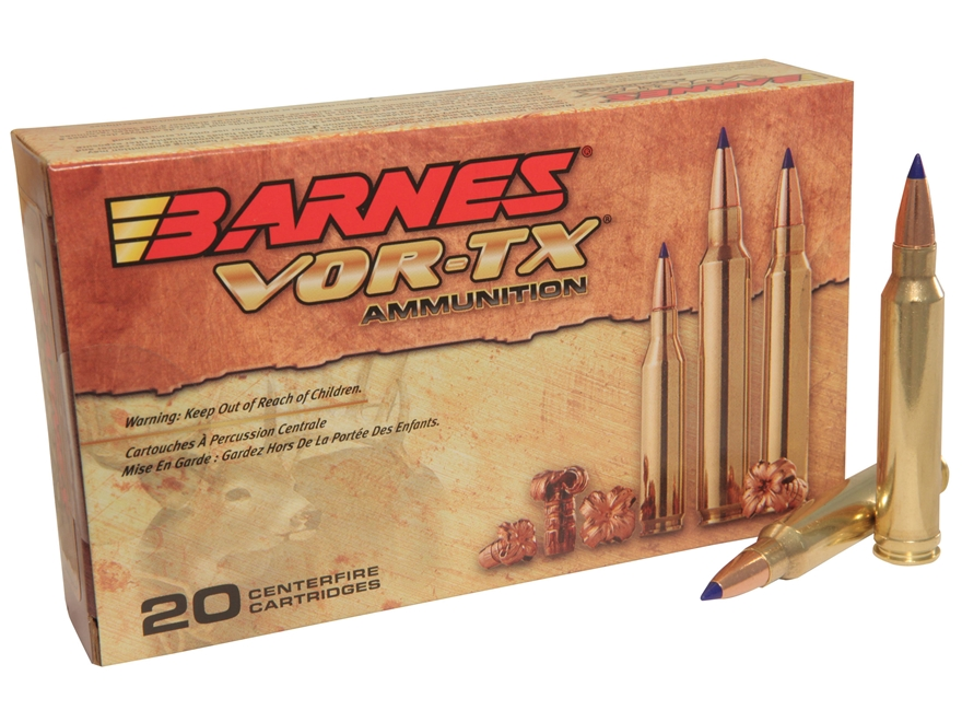 Barnes VOR-TX Ammunition 300 Winchester Magnum 165 Grain Tipped Triple-Shock X Bullet B...