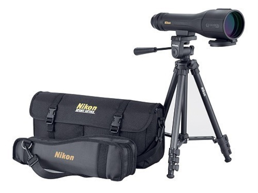 Nikon Spotter XL II Outfit Spotting Scope 16-48x 60mm Straight Body Black with Compact ...