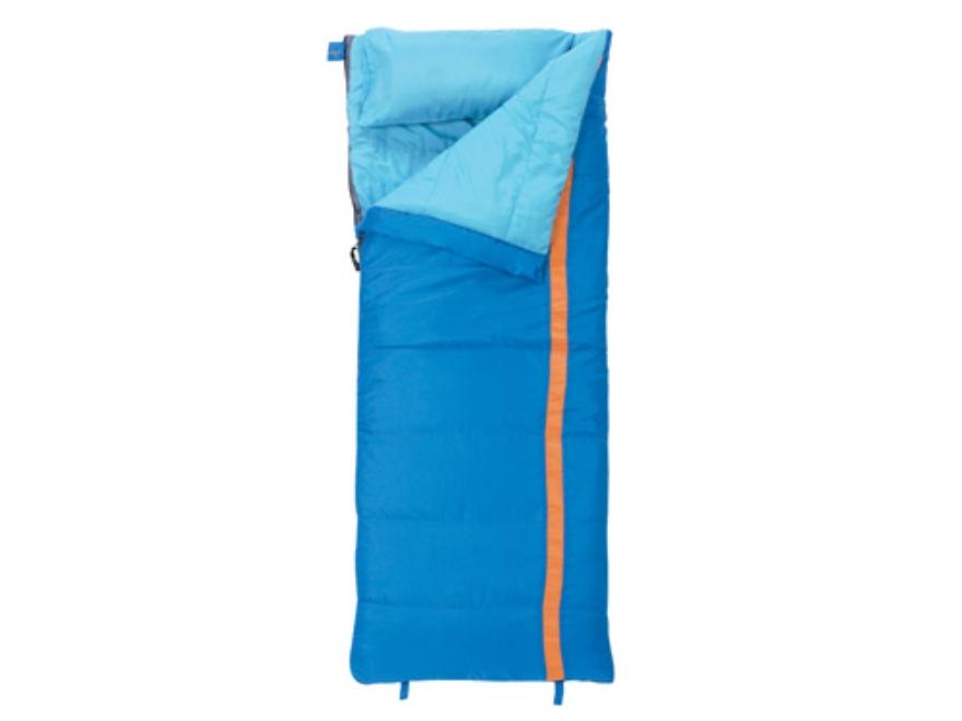 "Slumberjack Cub 40 Degree Youth Sleeping Bag 23"" x 66"" Polyester Blue and Orange"