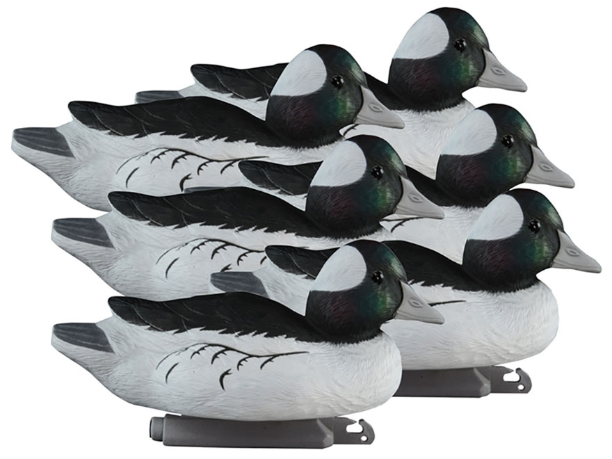 Higdon Standard Foam Filled Bufflehead Duck Decoy Polymer Pack of 6