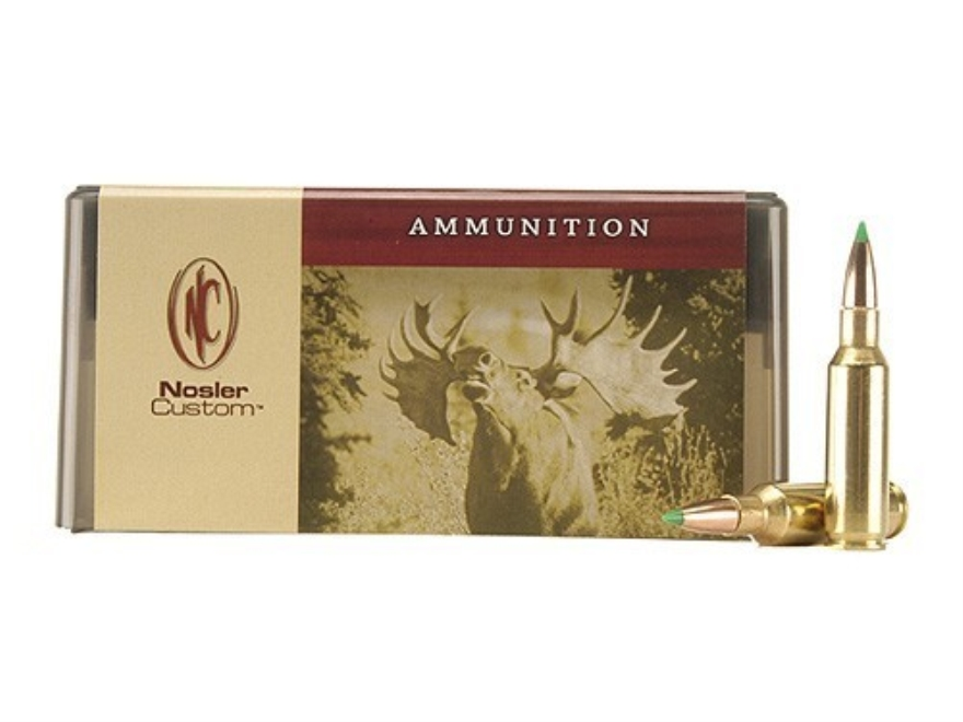 Nosler Custom Ammunition 300 Remington Short Action Ultra Magnum 180 Grain Ballistic Ti...