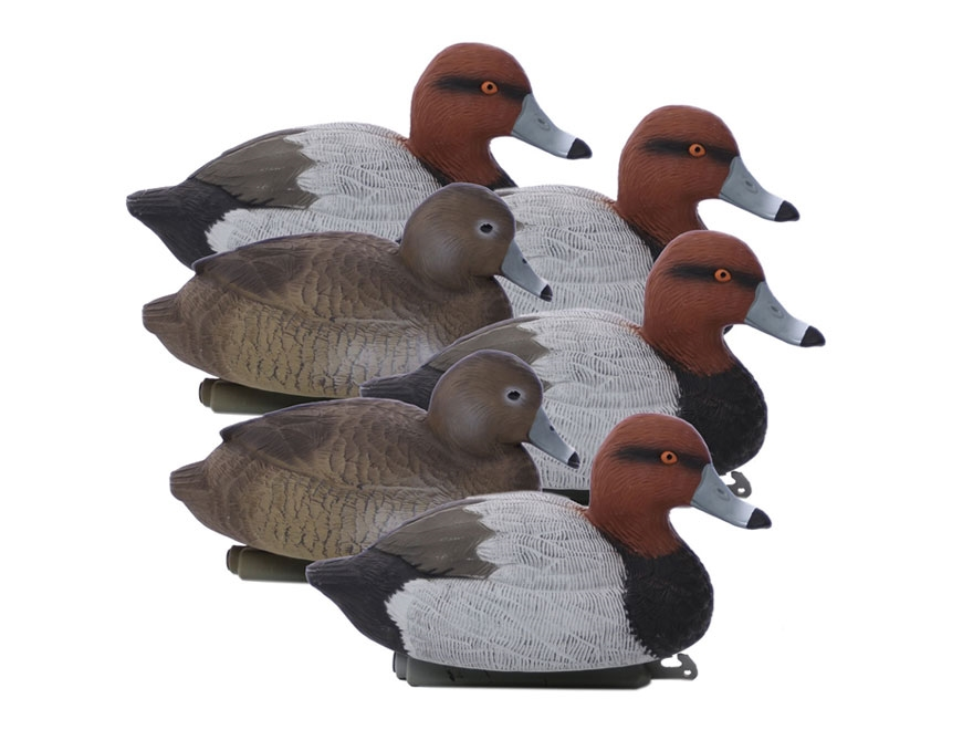 Higdon Standard Red Head Duck Decoy Polymer Pack of 6