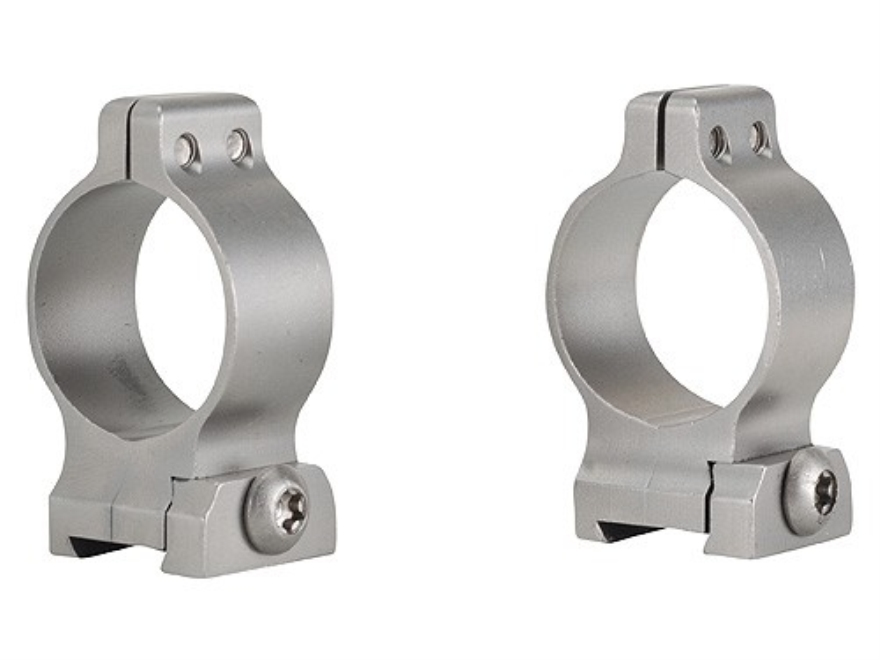 """Talley 1"""" Quick Detachable Scope Rings With Screw Lock Stainless Steel Medium"""