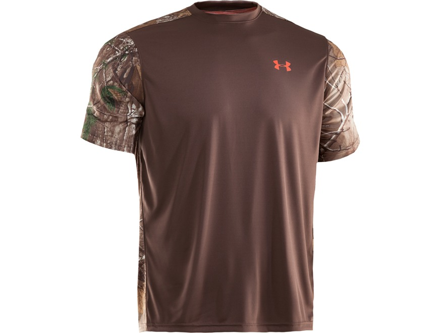 Under Armour Men's Wylie Crew Shirt Short Sleeve Polyester Timber and Realtree Xtra Cam...