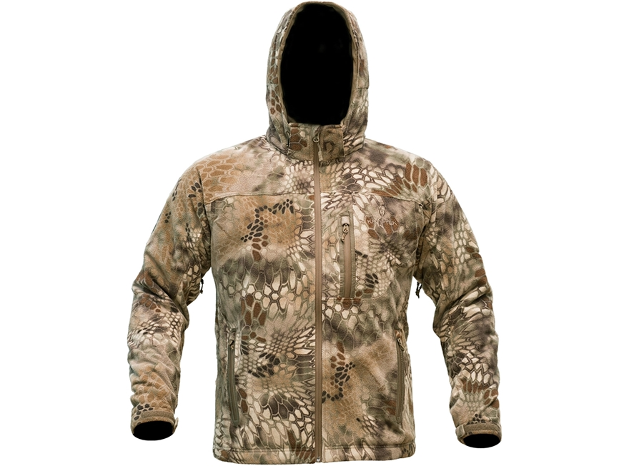 Kryptek Men's Vellus Insulated Fleece Jacket Polyester Highlander Camo