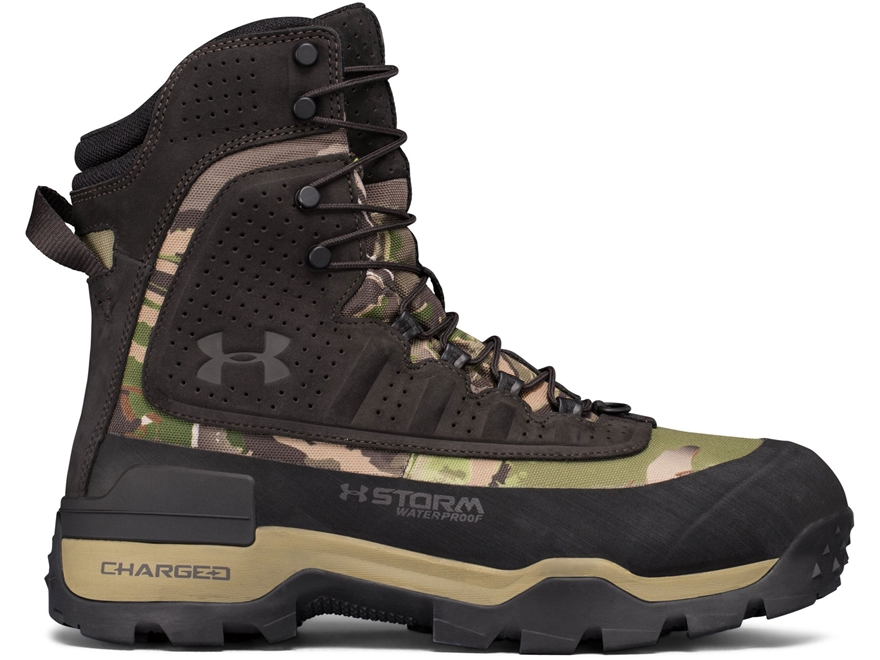 "Under Armour UA Brow Tine 2.0 8"" Waterproof 800 Gram Insulated Hunting Boots Leather Men's"