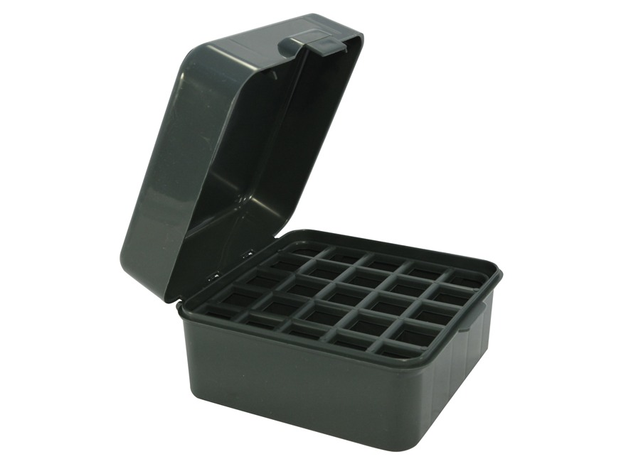 "MTM Dual Gauge Flip-Top Shotshell Box 12 or 20 Gauge 2-3/4"" and 3"" 25-Round Plastic"
