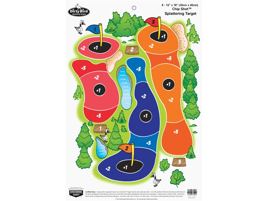 "Birchwood Casey PREGAME Chip Shot Target 12"" x 18"" Pack of 8"