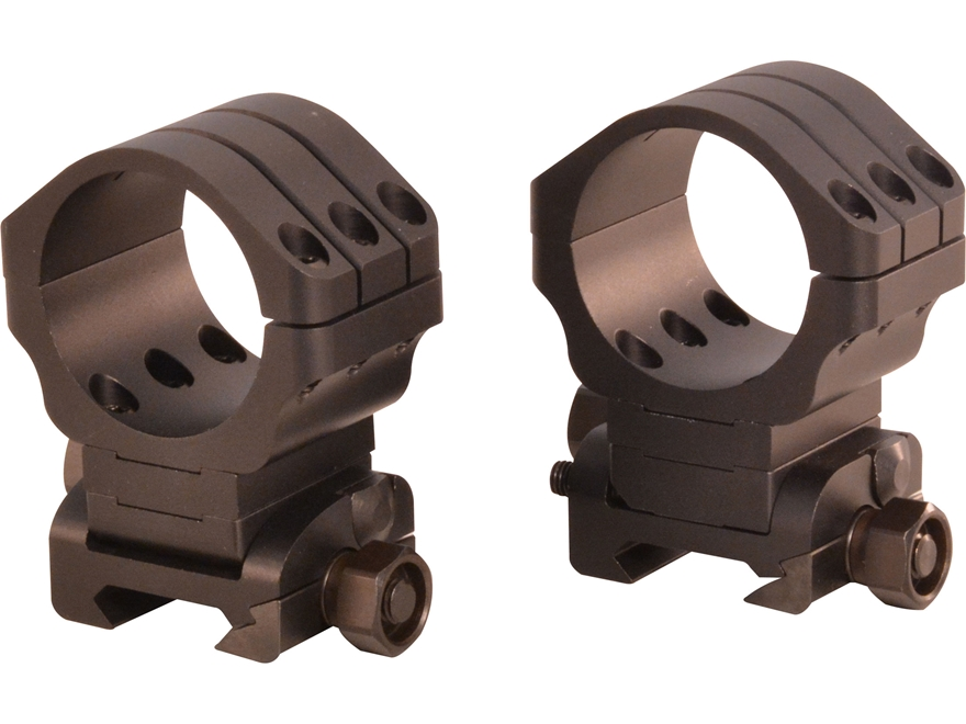 Warne ANGLEYE 90 MOA Adjustable Picatinny-Style Rings Matte