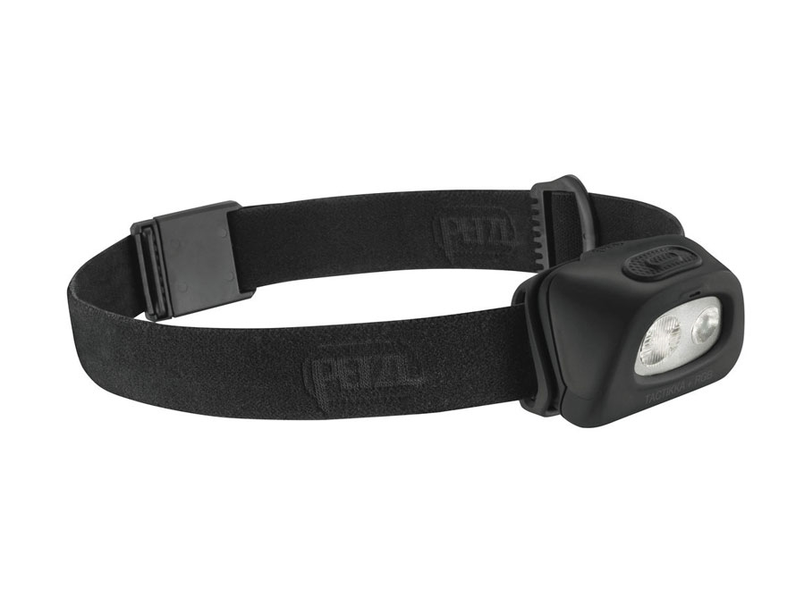 Petzl Tactikka + RGB Reactive Lighting Headlamp LED with 3 AAA Batteries Black