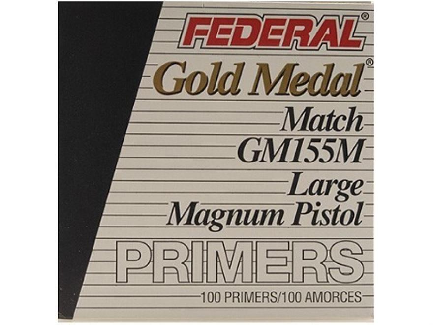 Federal Premium Gold Medal Large Pistol Magnum Match Primers #155M