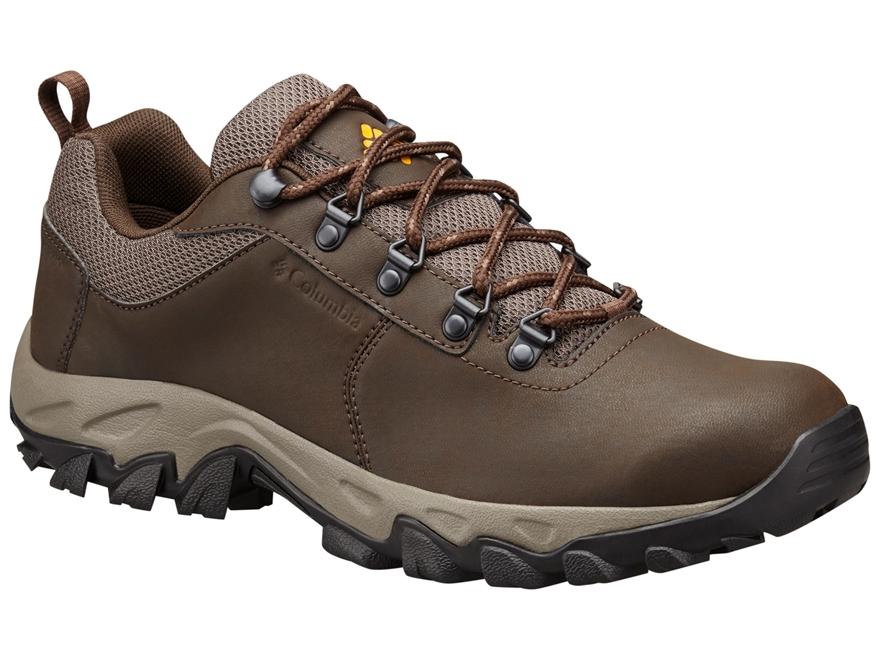 "Columbia Newton Ridge Plus II 4"" Waterproof Hiking Shoes Leather Cordovan/Squash Men's"