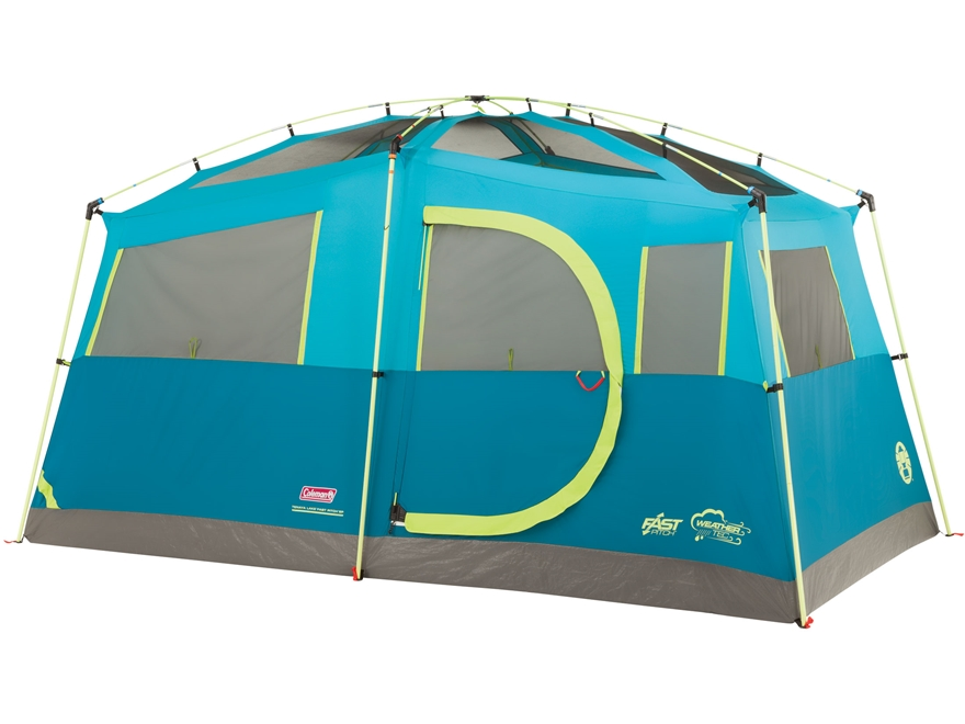 "Coleman Tenaya Lake Fast Pitch 6 Man Cabin Tent 156""x84""x79"" with Cabinets Polyester Bl..."