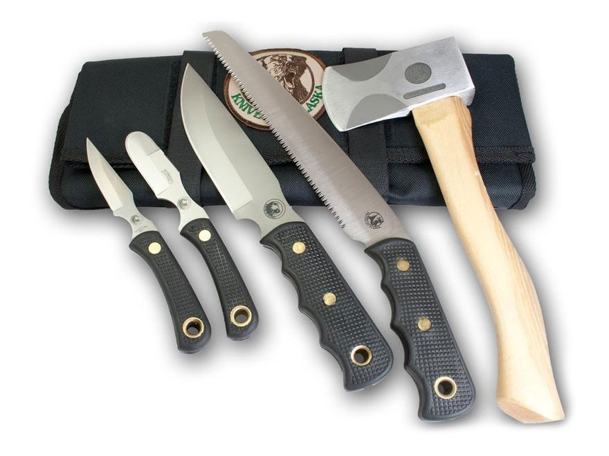 Knives of Alaska Super Pro-Pack 5 Piece Set with Hatchet and Bone Saw