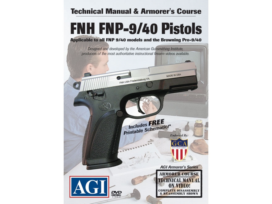 "American Gunsmithing Institute (AGI) Technical Manual & Armorer's Course Video ""FNH FNP..."