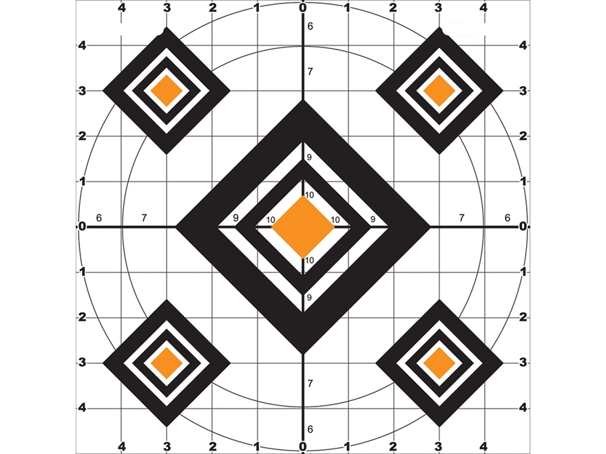 "Do-All Black Diamond 10"" x 10"" Paper Target Package of 10"