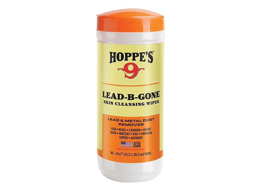 Hoppe's Lead-B-Gone Skin Cleansing Wipes Package of 40 Wipes
