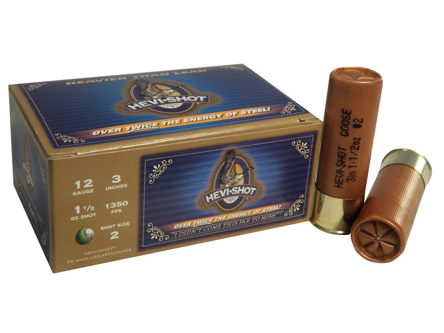 "Hevi-Shot Goose Waterfowl Ammunition 12 Gauge 3"" 1-1/4 oz #2 Non-Toxic Shot"