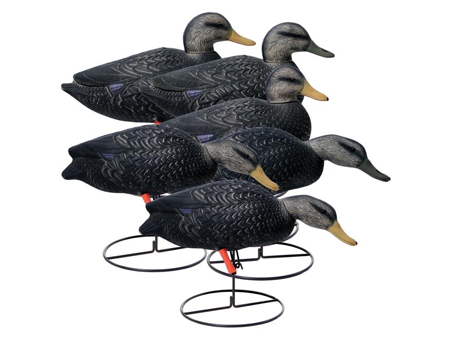 Higdon Magnum Full-Body Black Duck Decoy Polymer Pack of 6