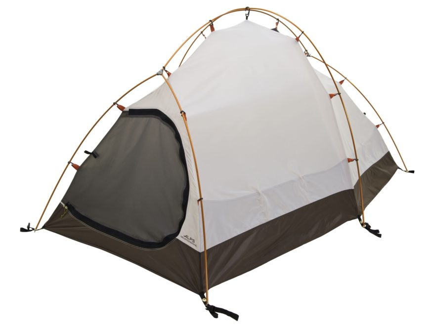 "ALPS Mountaineering Tasmanian 2 4-Season Tent 5'2"" x 7'8"" x 3'10"" Polyester Orange and ..."
