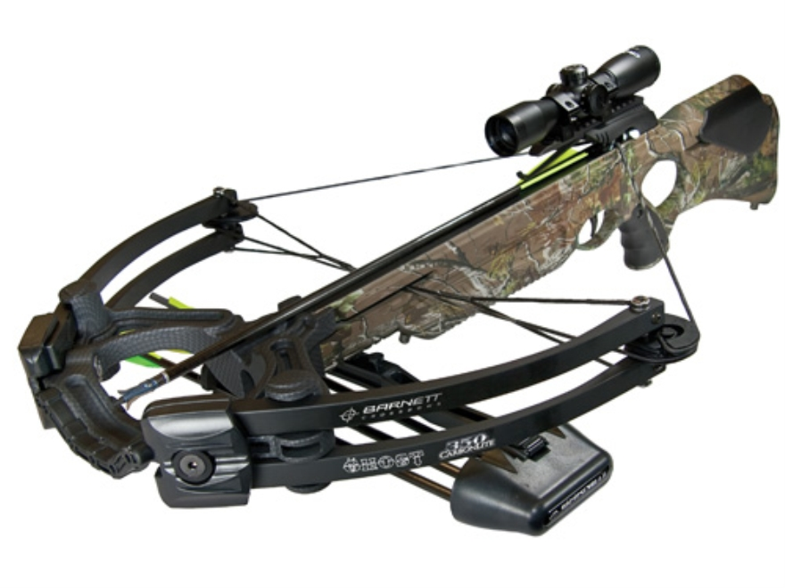 Barnett Ghost 350 CRT Crossbow Package with 3x 32mm Illuminated Multi-Reticle Scope Rea...
