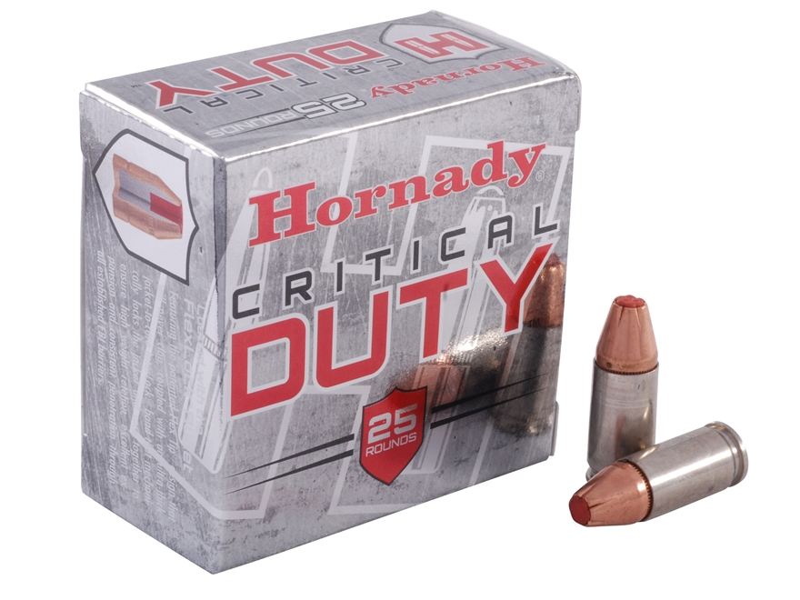 Hornady Critical Duty Ammunition 9mm Luger 135 Grain FlexLock Box of 25