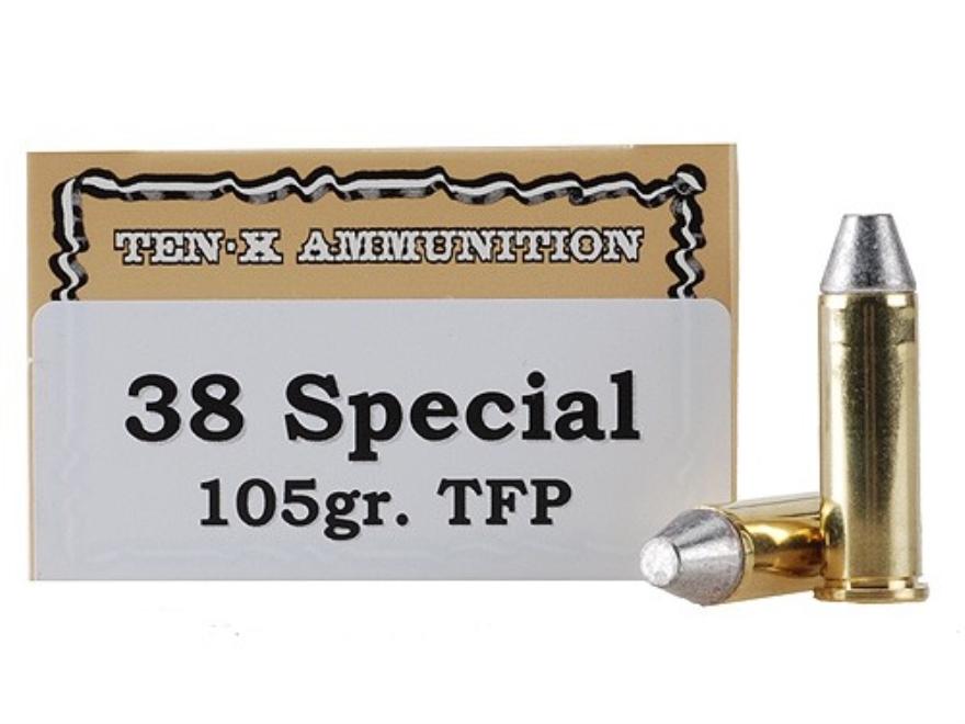 Ten-X Cowboy Ammunition 38 Special 105 Grain Lead Truncated Cone Box of 50