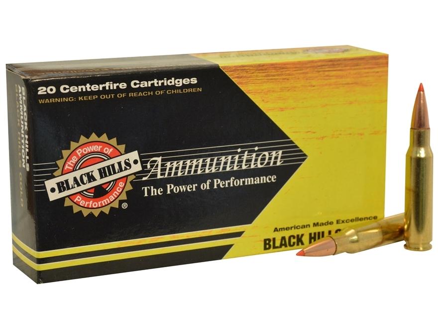 Black Hills Ammunition 308 Winchester 168 Grain Hornady ELD Match Box of 20