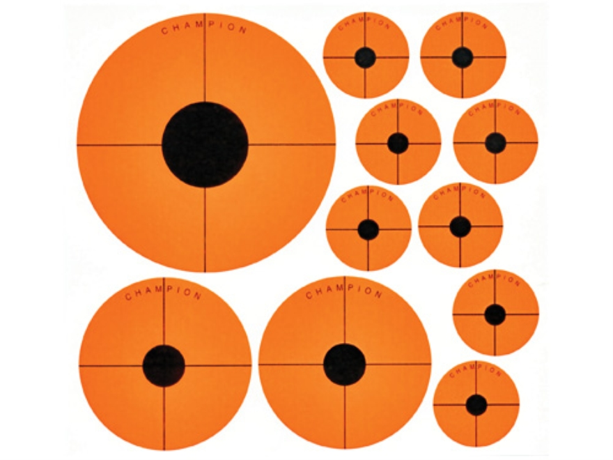 Champion Instant Adhesive Targets Variety Pack Paper Package of 20