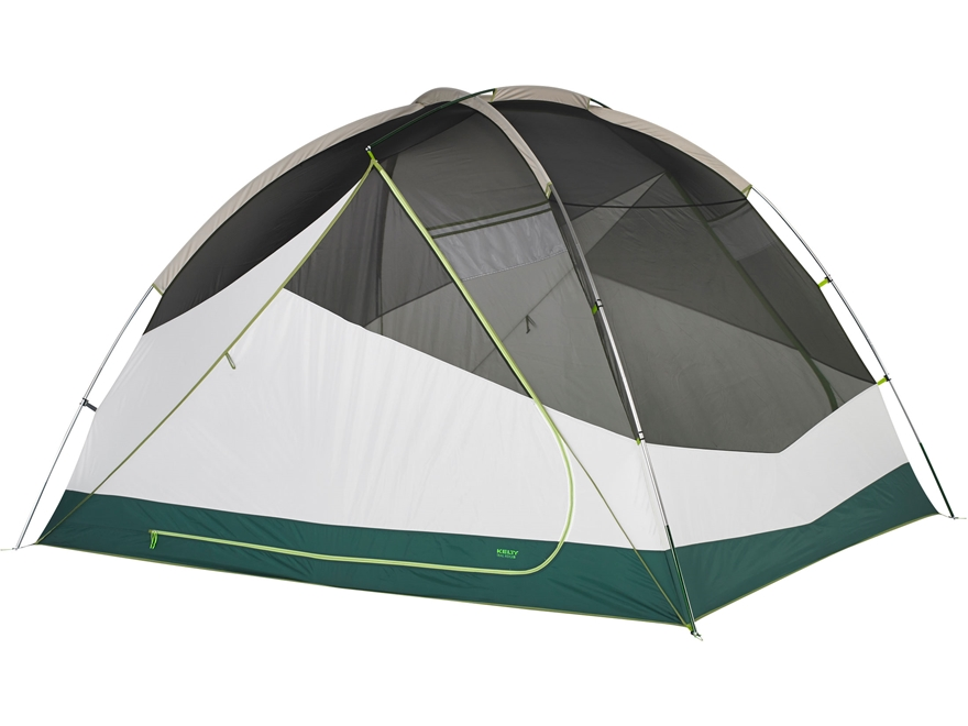 "Kelty Trail Ridge 6 Person Dome Tent with Footprint 120"" x 98"" x 74"" Polyester Grey"