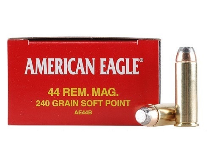 Federal American Eagle Ammunition 44 Remington Magnum 240 Grain Jacketed Soft Point Box...