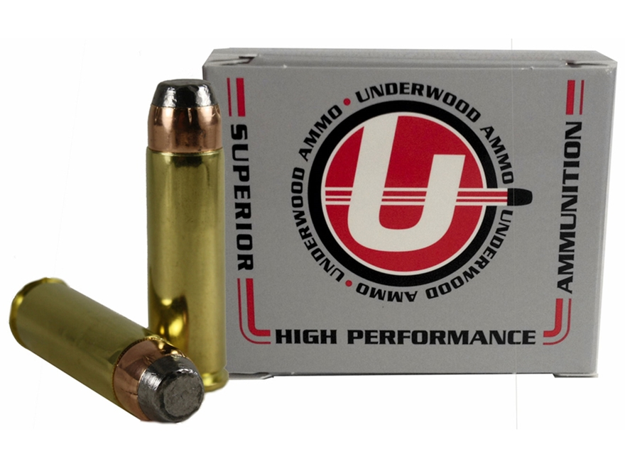 Underwood Ammunition 500 S&W Magnum 500 Grain Hornady XTP Flat Nose Box of 20