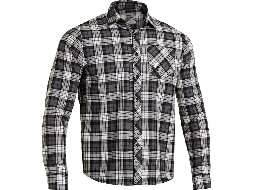 Under armour men 39 s stockton flannel shirt long upc for Mens xl flannel shirts