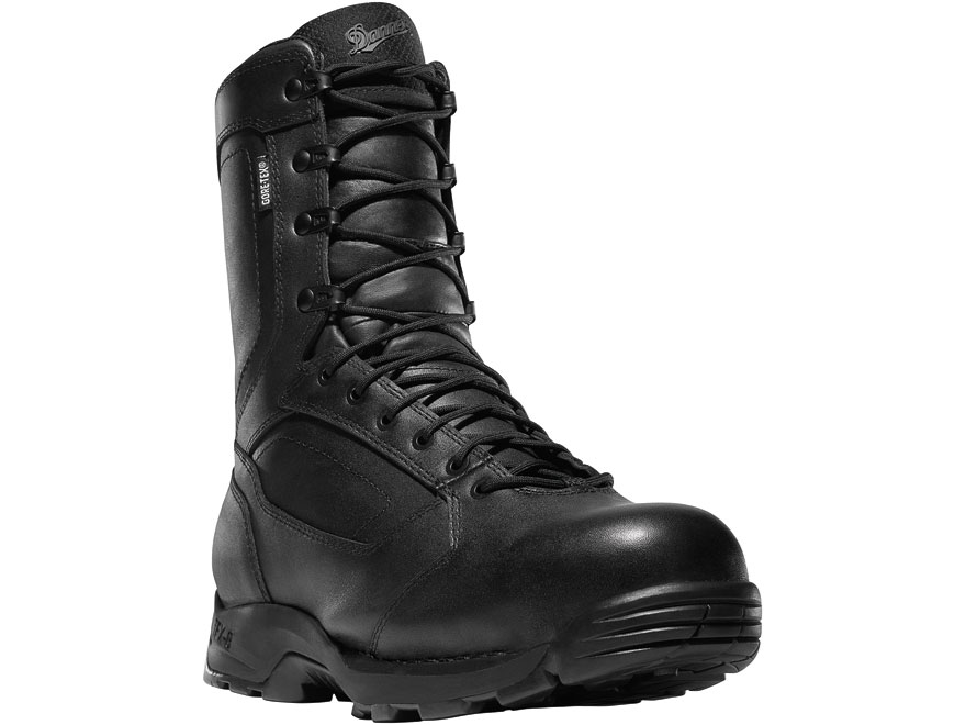 "Danner Striker Torrent 8"" Side-Zip Tactical Boots All-Leather Black Men's"