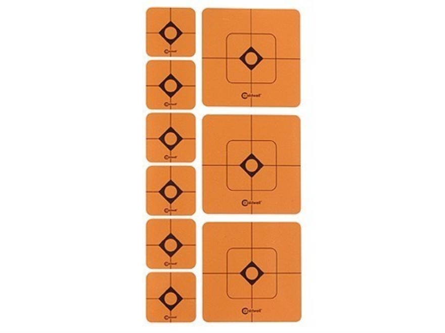 "Caldwell Shooting Squares Combo Pack of 12 Sheets 36 2"" and 72 1"" Squares Orange"