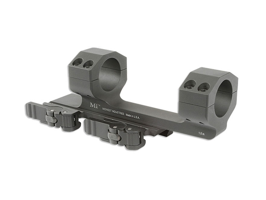 "Midwest Industries 1"" QD Scope Mount Picatinny-Style with 1.5"" Offset Matte"