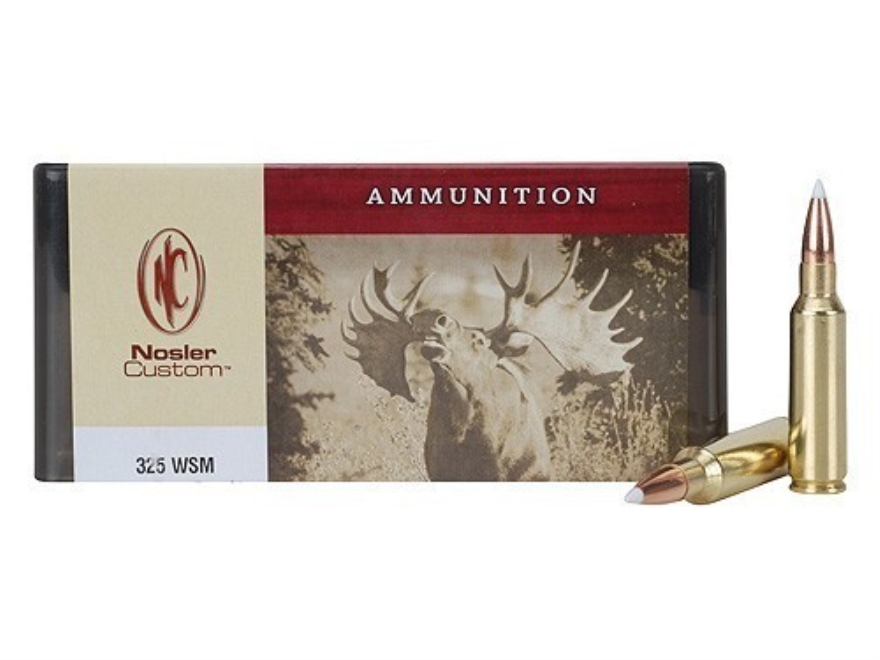 Nosler Custom Ammunition 325 Winchester Short Magnum (WSM) 200 Grain AccuBond Spitzer B...