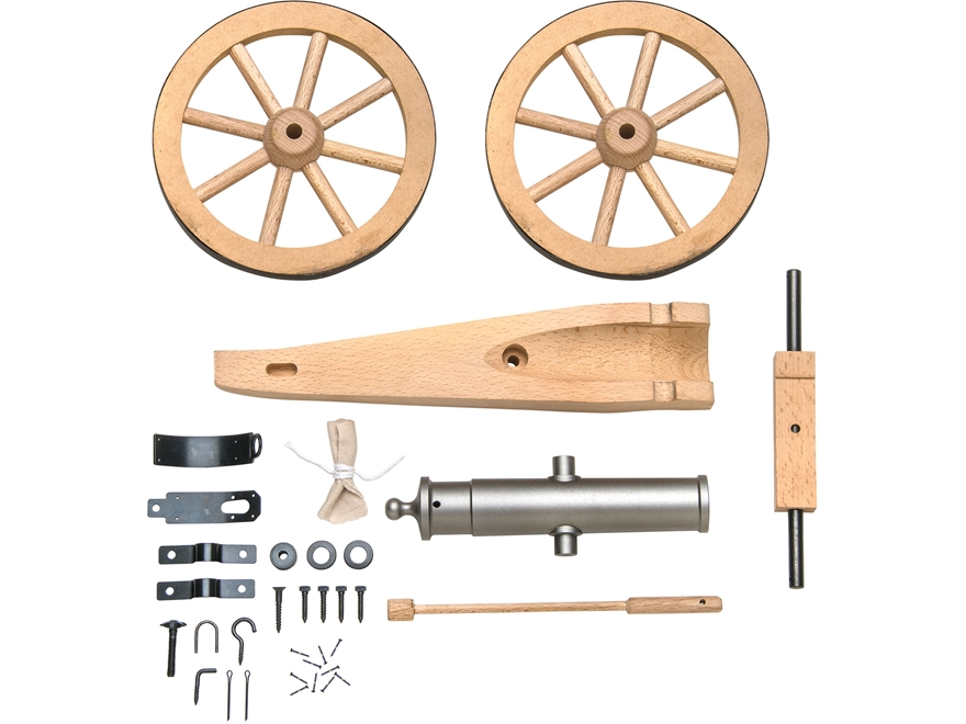 "Traditions Mountain Howitzer Black Powder Cannon Kit 50 Caliber 6.75"" Steel Barrel Hard..."