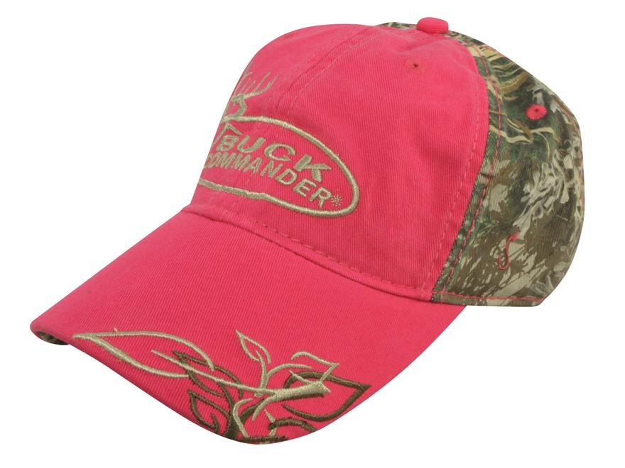 Buck Commander Women's Logo Cap Cotton Pink and Realtree Max-1 Camo
