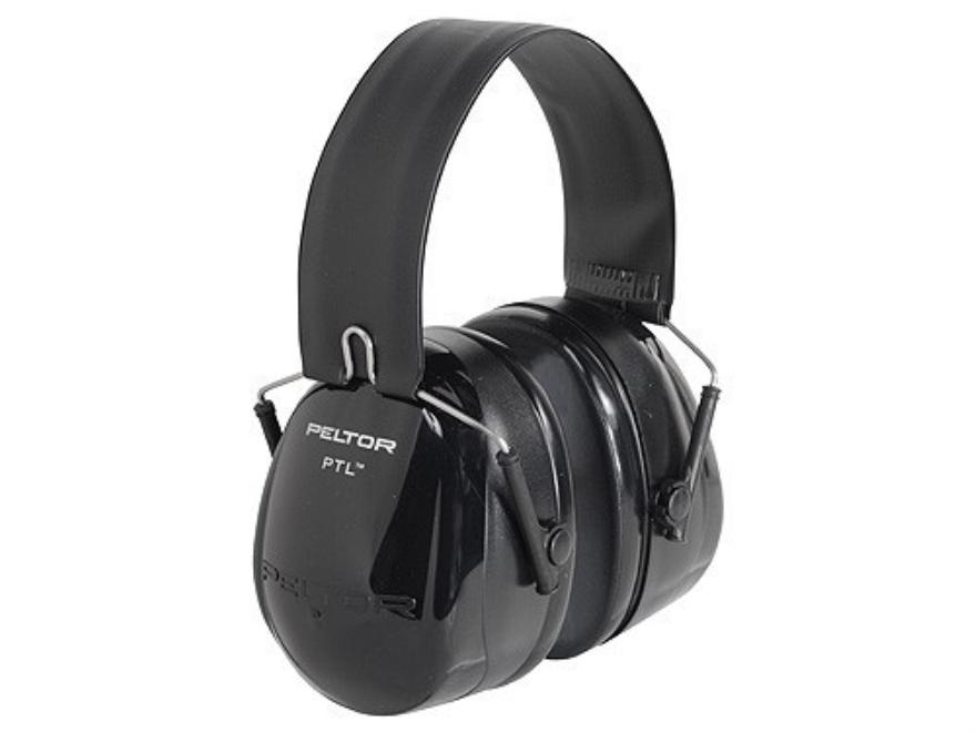 Peltor PTL Push-To-Listen Electronic Earmuffs (NRR 26dB) Black and Gray