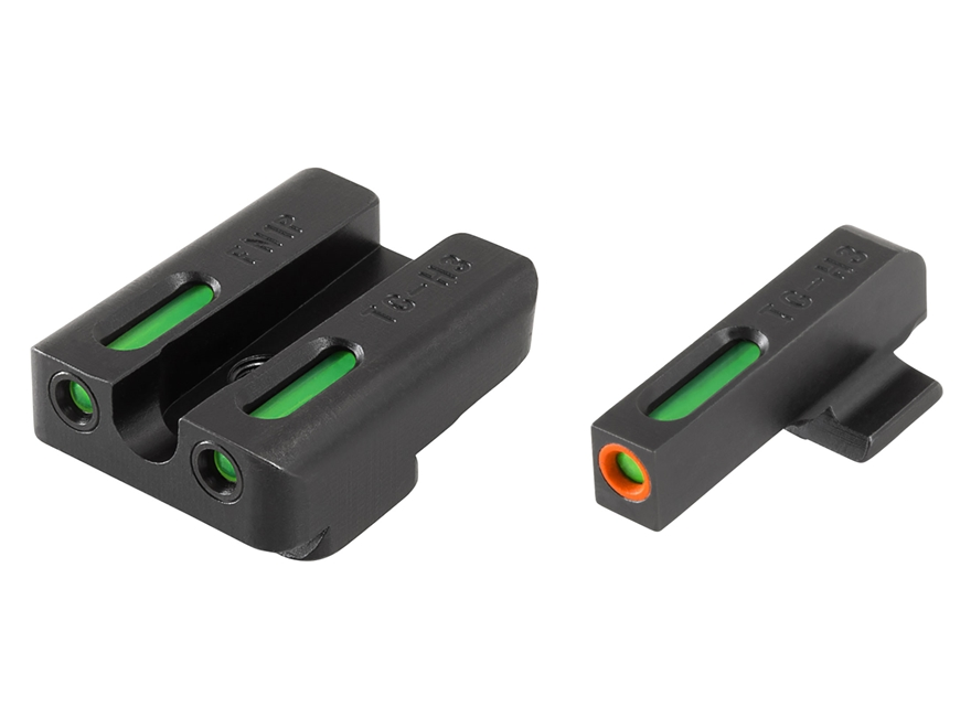 TRUGLO TFX Pro Sight Set FNX 9 Tritium / Fiber Optic Green with Orange Front Dot Outline