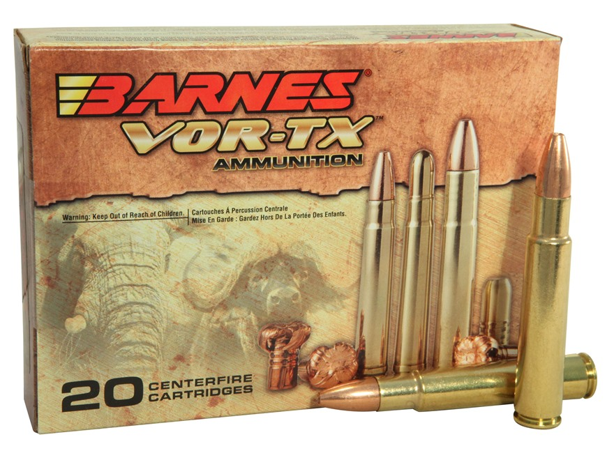 Barnes VOR-TX Safari Ammunition 416 Rigby 400 Grain Triple-Shock X Bullet Flat Base Box...
